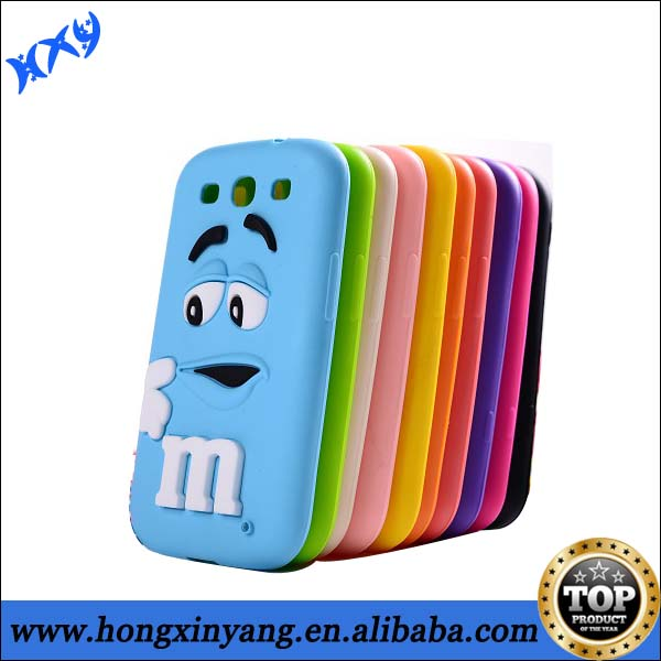 3D silicone mobile skin cover case for samsung s4