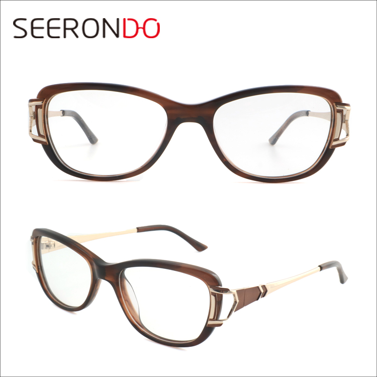 SEERONDO Best Selling Eyeglasses Spring Hinge Vintage Ladies Optical Glasses Frame
