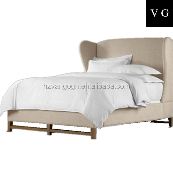 Unique French Style Designs Wooden Antique wood double Bed designs