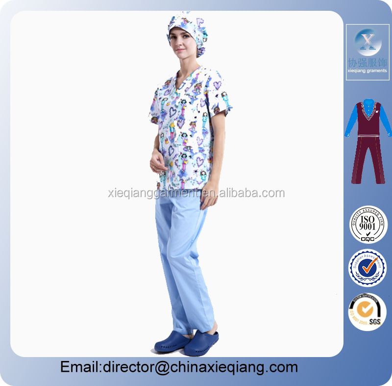 2016 Custom Fashion nurse uniform/medical scrubs / nurse uniform