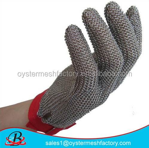 chain link stainless steel gloves Cut resistant butcher