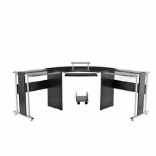Office furniture 2 person glass office desk/modern office table design