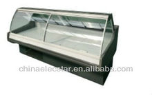 plug in lift-up Curved Glass Serve Over Counters,supermarket refrigeration equipment