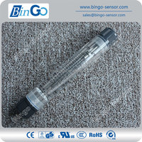 High quality plastic type acrylic water flow meter, acrylic flow meter, portable piping water Flow meter