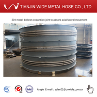 304 metal bellows expansion joint to absorb axial/lateral movement