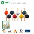 bamboo unique party picks disposable bead sticks for party decoration
