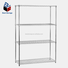 For home display use chrome wire mesh shelf
