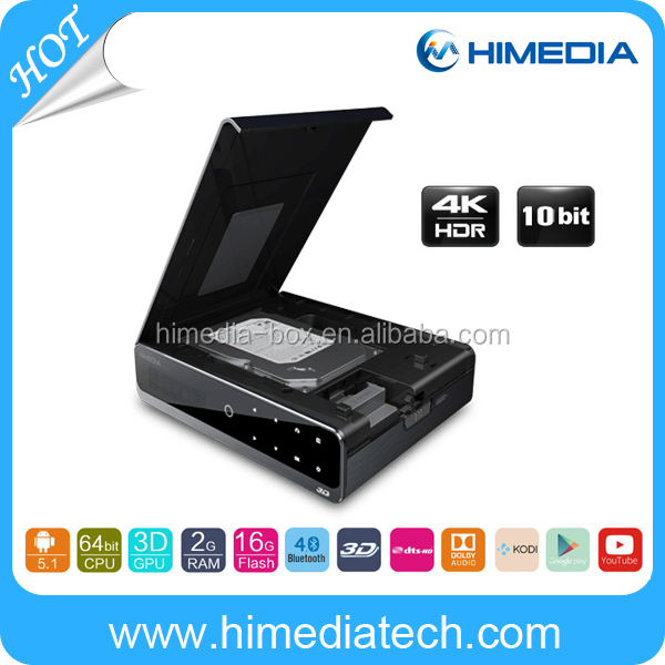 HD media player 4K H.265 decoding Himedia Q10pro Hisilicon Hi3798CV200 quad core Android TV Box supported dual band wifi HDR