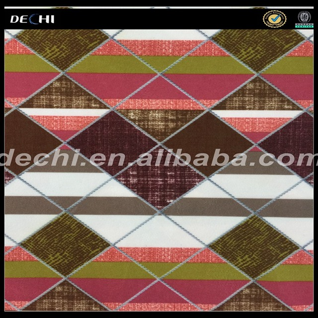 DECHI Simple Geometry Style Printing Sofa Fabric of China Supplier