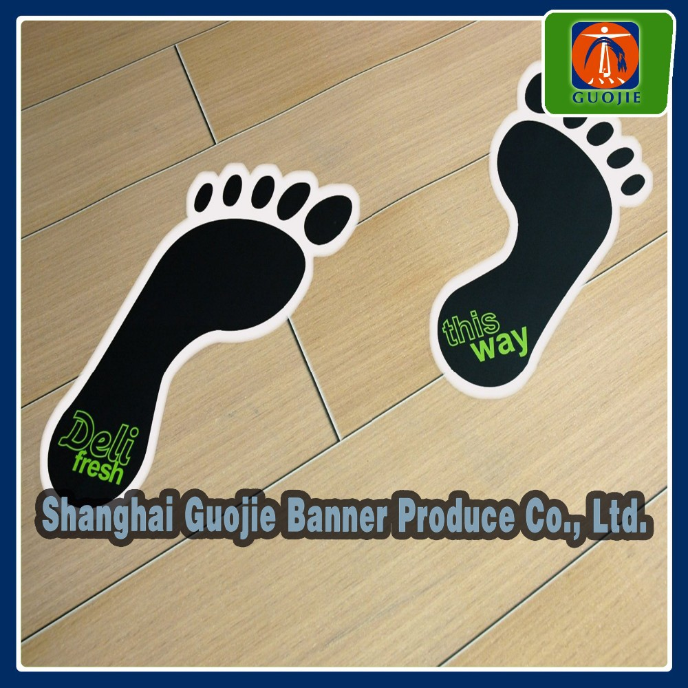 Special custom sticker black footprint shape sticker floor sticker