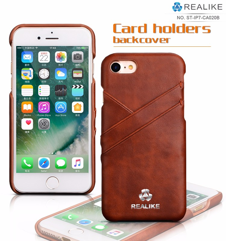 2017 best quality rfid leather back phone case cover for iphone 7