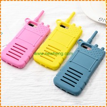 mobile accessories soft silicon phone cover case for iPhone 7 plus Walkie-talkie
