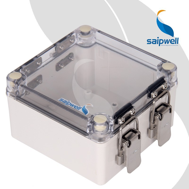 Saip / Saipwell Clear IP66 Electrical Watertight ABS / PC Box Waterproof Case Junction Box