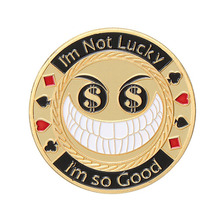 Creative funny craft metal round poker chip