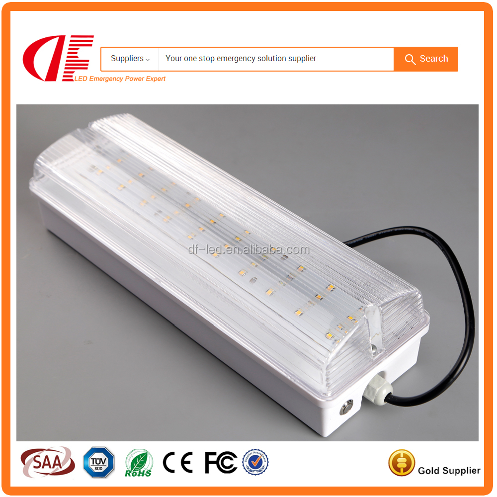IP65 Emergency bulkhead cool white Running man legend bought separately Surface mount installation multiple cable entry points