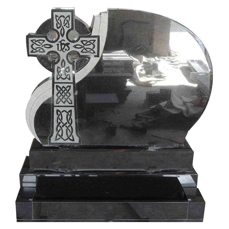 high quality black granite celtic cross Ireland granite headstones, European monuments