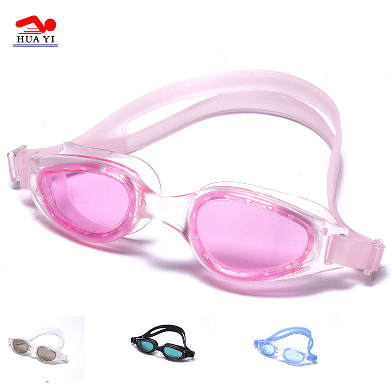 Novelty durable pvc wide vision one piece anti fog swim goggles