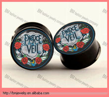 pierce the vail printed custom ear gauges plugs double flared ear tunnels piercing jewelry