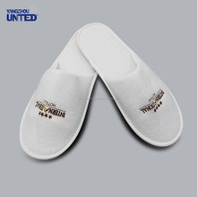 Disposable White Personalized Indoor Velvet indoor hotel slippers