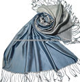Grey Silk Scarf reversible sides for men