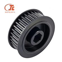 CNC Machining Metal Parts, Custom Steel <strong>V</strong> Groove Pulley Wheel