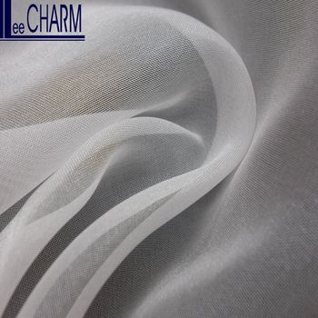 LCSH039 Taiwan Wedding Bridal Cheap Embroidered Polyester Organza Fabric