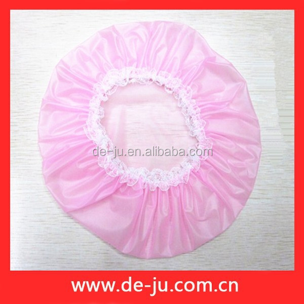 Waterproof Transparent PEVA Light Pink Cheap Shower Cap
