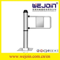 Single pole access control safety swing barrier, automatic barrier gates, retractable swing barrier