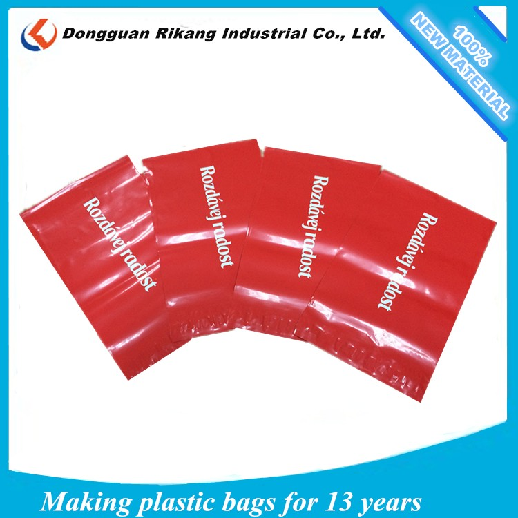 Customized printing plastic mailing bag, courier mail for cloth postage mailing bag