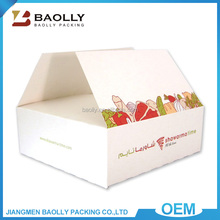 Wholesale custom rectangle logo printed plain color white cardboard box for food packing