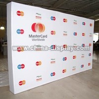 Straight velcro pop up display stand trade show display booth