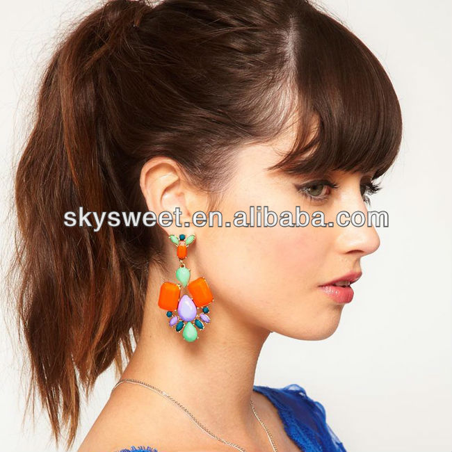 spring & summer earring, color earring,vivid bright earring (SWTCXEPF1238)