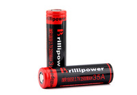 Brillipower 18650 battery holder 35A 2500 3.7V rechargeable battery with high quality for Strong vaping high drain battery