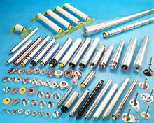 Roller conveyor components, roller conveyor parts