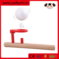 promotional wooden floating toy ball with mouth blow