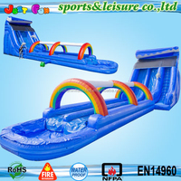 2 lanes dolphin inflatable water slide, adult water slides and slip slides