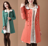 latest women coats high fashion long slim spring winter lady coat factory guangzhou china