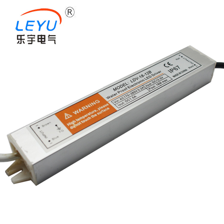 LDV-<strong>18</strong>-12 IP67 waterproof power supply 18w 12v output for <strong>LED</strong>