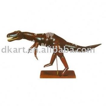 Dinosaur Manikin Promotion Wooden Little Models Decoration Articulated Poseable
