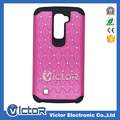 Hot sale 2in1 bling bling shiny diamond funda case for LG K10 cellphone accessories