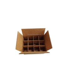 Corrugated cardboard wine box 12 bottle with dividers