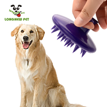 Pet Silicone Shampoo Brush Anti Skid Rubber Dog Cat Pet Grooming Shower Bath Brush Massage Comb for Long Hair Dog