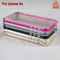 Guangzhou Ultra Thin Aluminum +TPU Cheap Mobile Phone Case Wholesale Cell Phone Case For Iphone 5s