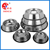 Skid Stop Rubber Base Stainless Steel Pet Bowls with Embossed Paws and Bones for Dogs Puppies Cats Feeder Bowl
