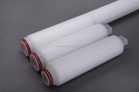 DPP Series Pleated Depth Filter alkaline water filter cartridge 5 micron cartridge filter for chemicals filtration
