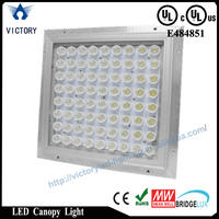 Bridgeluxl led chip Meanwell driver 100w UL gas station led canopy lights