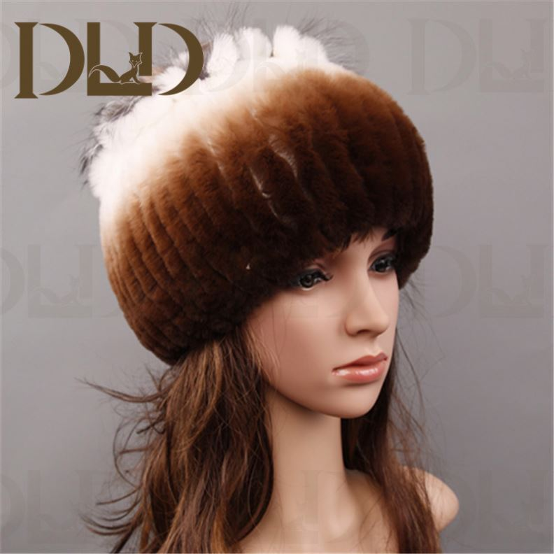 Women's Rabbit Full Fur Russian Ushanka Trooper Hats Multicolor