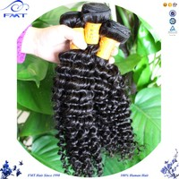 2016 6A Raw Unprocessed Wholesale Brazilian Remy Human Hair 4C Afro Kinky Curly Human Hair Weave