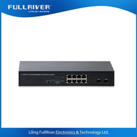 8 port Gigabit PoE Switch with 2 SFP port network ethernet switch made in China