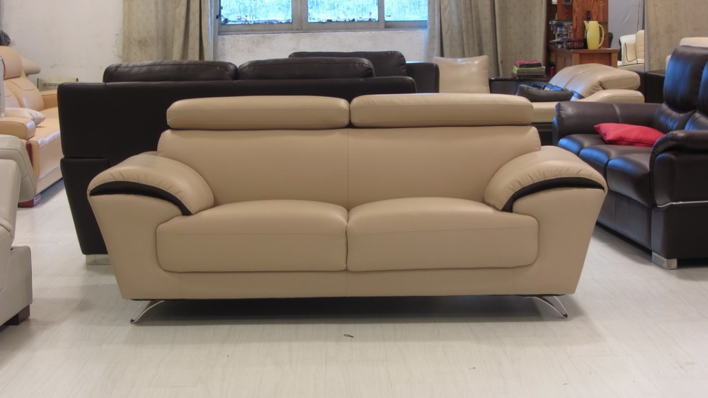 Modern living room furniture genuine leather sofa a118 for Quality modern furniture